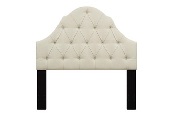 Eastern King Tufted Arch Upholstered Headboard-Beige