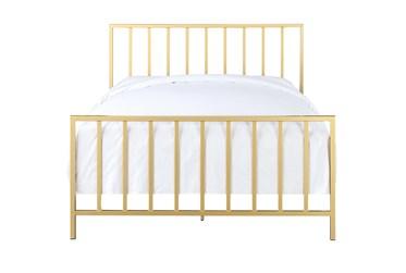 Brushed Gold Full Metal Bed