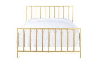Brushed Gold Eastern King Metal Bed