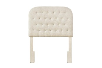 Doe Twin Round Tufted Upholstered Headboard