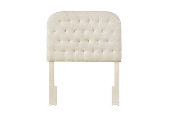 Twin Doe Rounded Diamond Tufted Upholstered Headboard