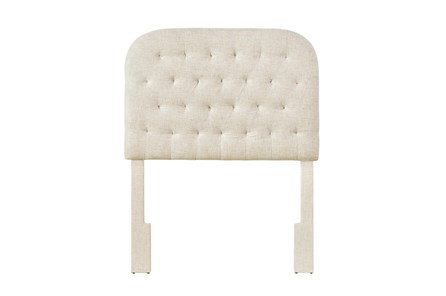 Doe Twin Round Tufted Upholstered Headboard - Main