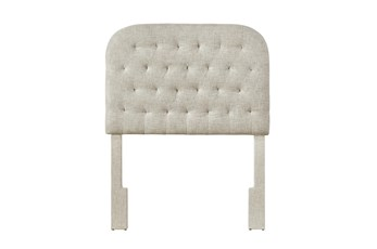 Linen Twin Round Tufted Upholstered Headboard