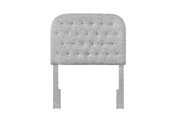 Platinum Twin Round Tufted Upholstered Headboard
