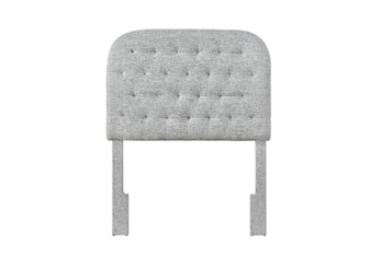Twin Platinum Rounded Diamond Tufted Upholstered Headboard