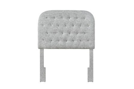 Platinum Twin Round Tufted Upholstered Headboard - Main