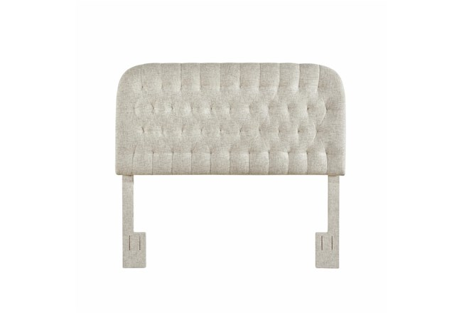 Linen Full/Queen Round Tufted Upholstered Headboard - 360