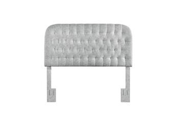 Full/Queen Platinum Rounded Diamond Tufted Upholstered Headboard