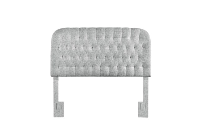 Platinum Full/Queen Round Tufted Upholstered Headboard - 360