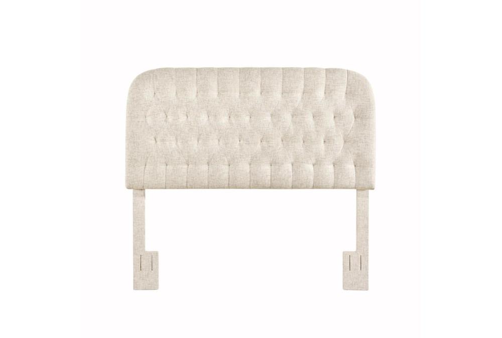 Doe King/Cal King Round Tufted Upholstered Headboard