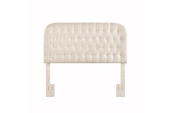 Doe King/Cal King Round Tufted Upholstered Headboard