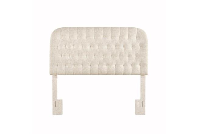 Doe King/Cal King Round Tufted Upholstered Headboard - 360