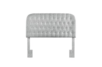 Platinum King/Cal King Round Tufted Upholstered Headboard