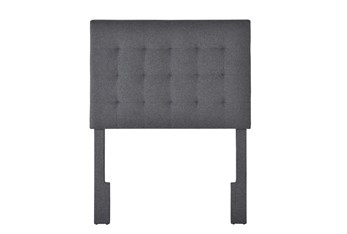 Twin Charcoal Box Tufted Upholstered Headboard