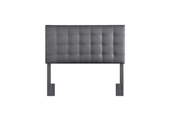Charcoal Full/Queen Tufted Grid Upholstered Headboard