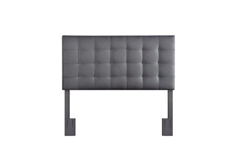 Full/Queen Charcoal Box Tufted Upholstered Headboard