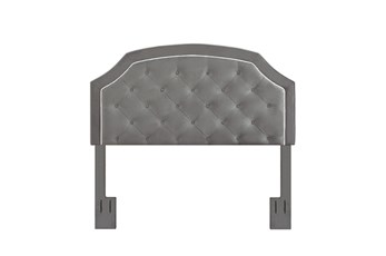 Charcoal King/Cal King Welt Trim Upholstered Headboard