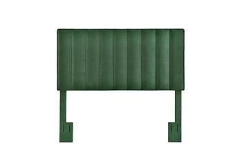 Full/Queen Emerald Velvet Vertical Channel Upholstered Headboard