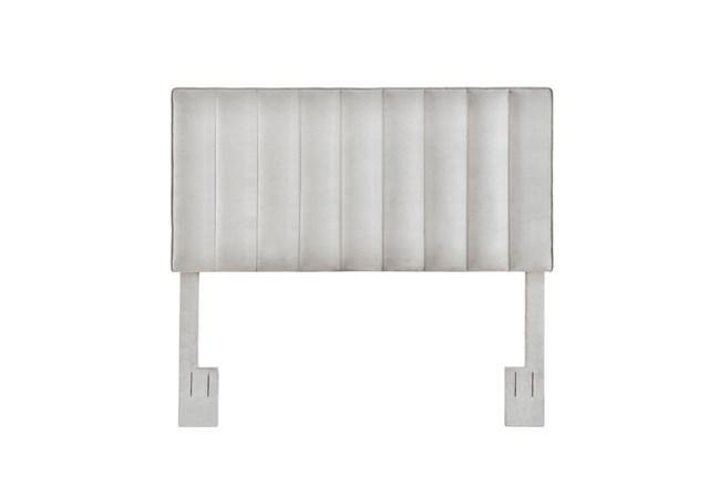 Grey King/Cal King Velvet Channel Upholstered Headboard - 360
