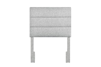 Platinum Twin Channel Upholstered Headboard