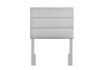 Twin Platinum Horizontal Channel Upholstered Headboard