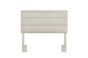 Full/Queen Linen Horizontal Channel Upholstered Headboard