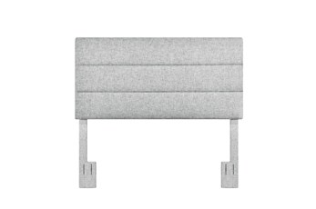 Full/Queen Platinum Horizontal Channel Upholstered Headboard