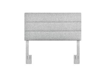 Full/Queen Platinum Horizontal Channel Upholstered Headboard