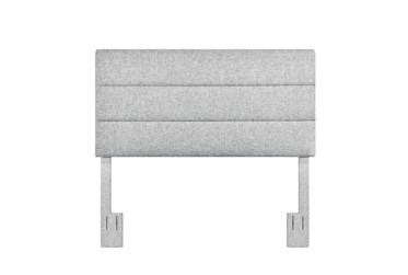 Eastern King/Cal King Platinum Horizontal Channel Upholstered Headboard
