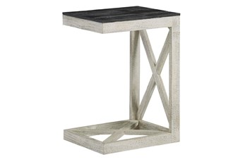 White Wash X Frame C Table
