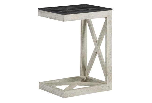 White Wash X Frame C Table  - 360