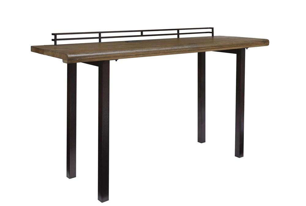 "Rustic Wood + Metal 72"" Writing Desk"