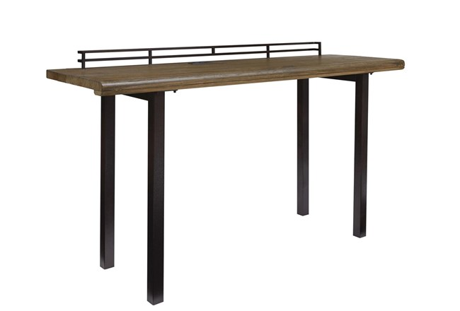 "Rustic Wood + Metal 72"" Writing Desk  - 360"