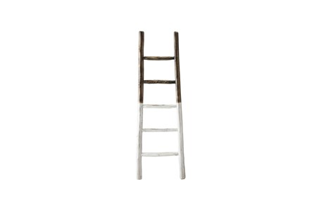 White Dipped Blanket Ladder - Main