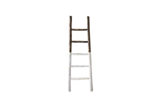 White Dipped Blanket Ladder  - 360