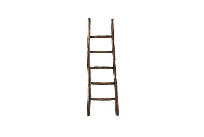Brown Wood Blanket Ladder  - 360