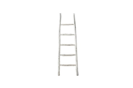White Wash Blanket Ladder - Main