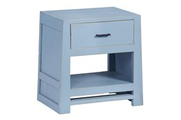 Light Blue Chairside Table