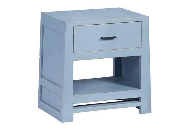 Light Blue Chairside Table  - 360