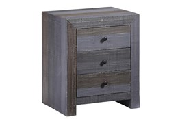 Grey Wash Chairside Table