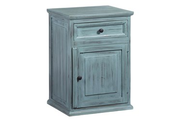 Teal Chairside Table