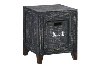 Charcoal Chairside Table