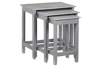 Grey Wash Set Of 3 Nestng Tables