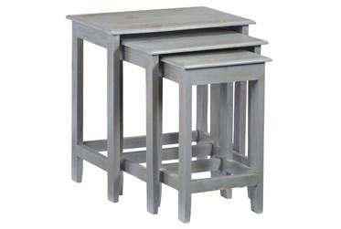 Grey Wash Set Of 3 Nestng Tables