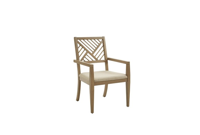 Criss Cross Back Dining Arm Chair Set Of 2  - 360