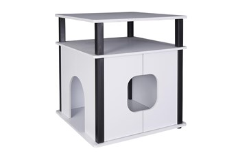 White + Black Pet House
