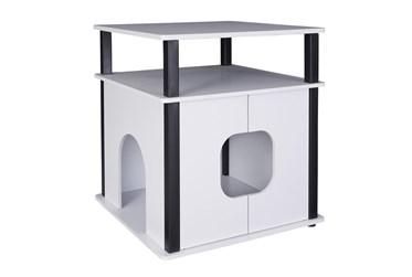 White + Black Pet House
