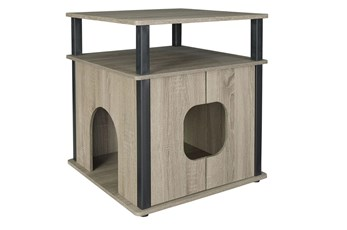 Grey + Black Pet House