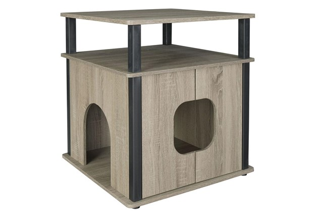 Grey + Black Pet House  - 360