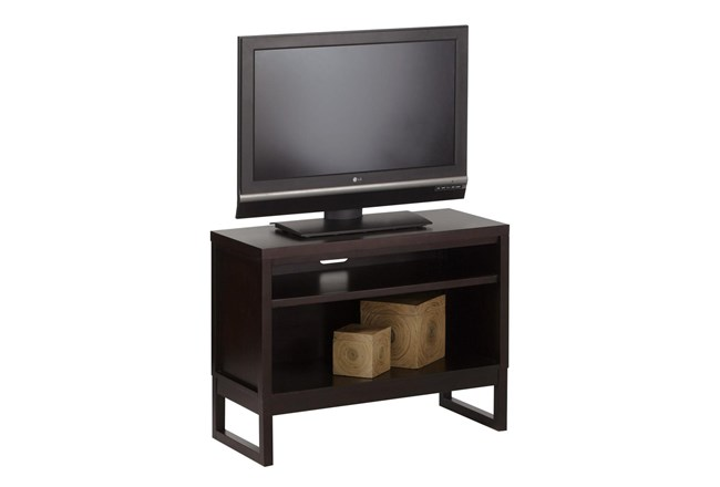 Chocolate 40 Inch Open Tv Stand  - 360